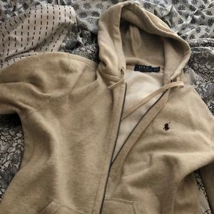 Polo men's zip up hoodie